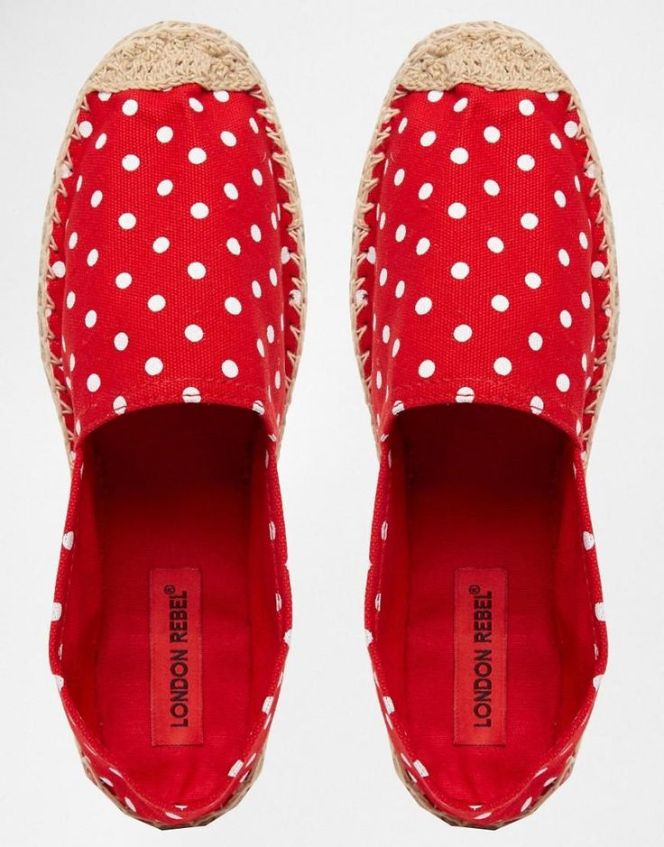 Buy London Rebel Women's Red Dot Espadrilles, starting at €13. Similar products also available. SALE now on!