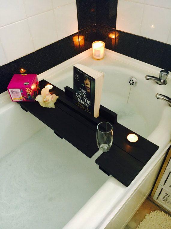 Bath Caddy Bath Shelf Black Bath Caddy Birthday Gift Gift