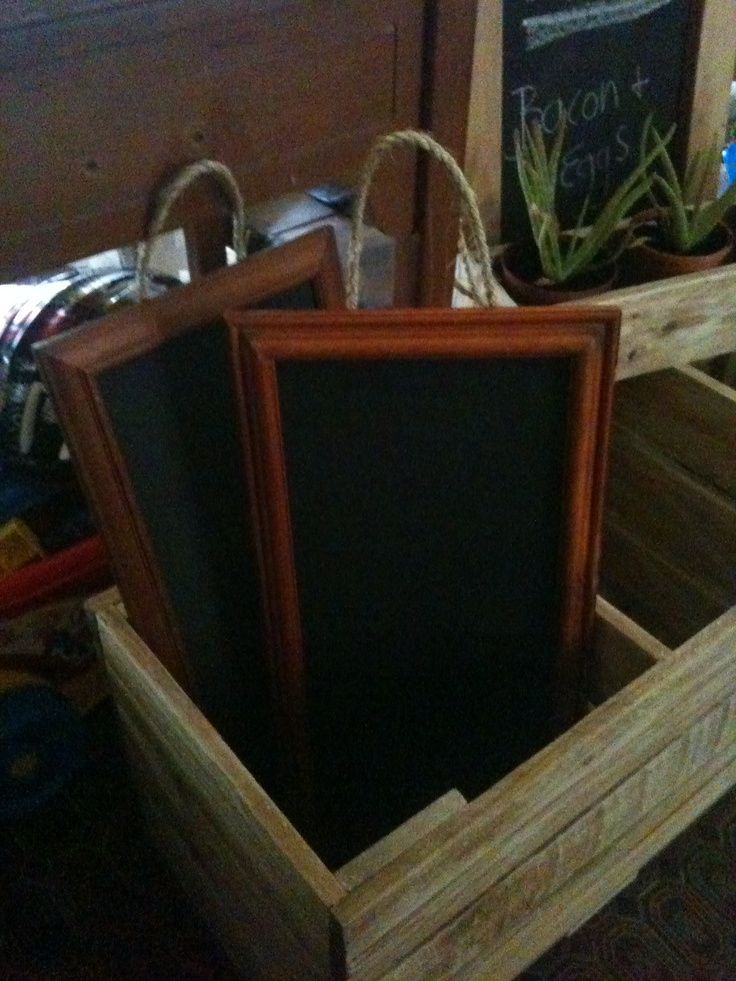 Picture Frame Chalk Boards