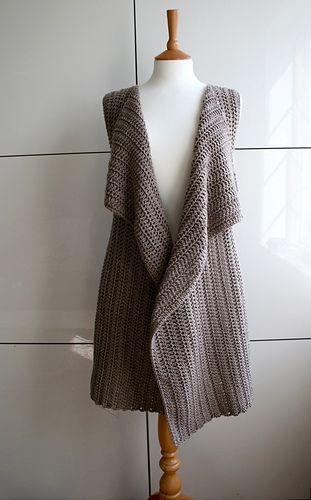 Spring vest crochet pattern 235
