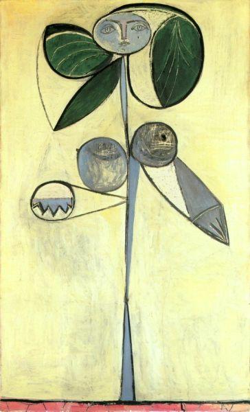 1946 La femme-fleur (FranЗoise Gilot) 1. Pablo Picasso (1881-1973) Period of creation: 1943-1961 • download painting • Gallerix.ru