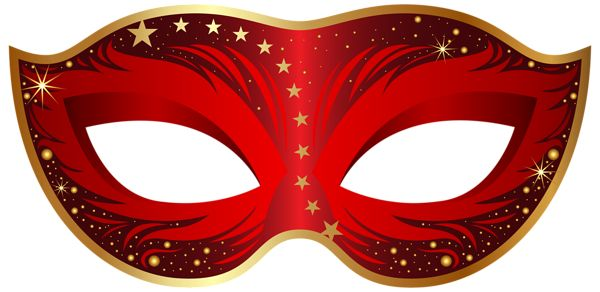 Red Carnival Mask PNG Clip Art Image