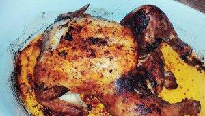 paprika kylling, med ovnkartofler og coleslaw