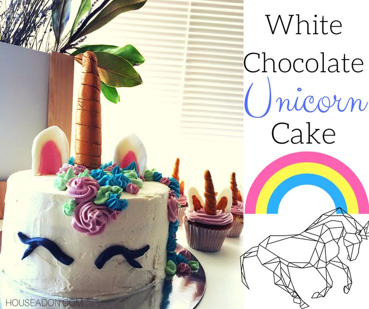 This White Chocolate Unicorn Cake should be enough to console any broken heart! Its super simple and delicious, not to mention really cute!