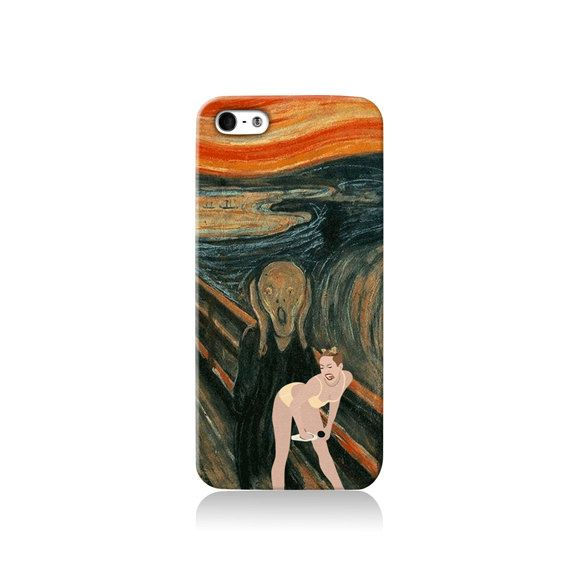 Miley Cirus Twerking The Scream Meme iPhone case by VDirectCases