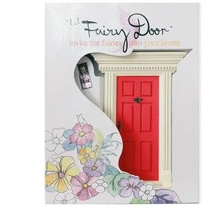 Lil Fairy Door - Red: Invite the Fairies into your home.  Once your Fairy Door is attached, the fairies will know how to use it to come in and out.   They only come out at night, and are sometimes known to exchange notes and gifts with well behaved children. #alltotstreasures #lilfairydoor #red #woodentoys #fairies #fairy #fairyworld #fairydoor