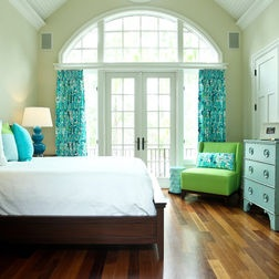 Eclectic Turquoise & Green Bedroom