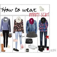 Infinity scarf outfit idea