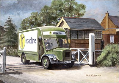 Just The Job By Paul Atchinson - A Roadline BMC VA 'Noddy' van.