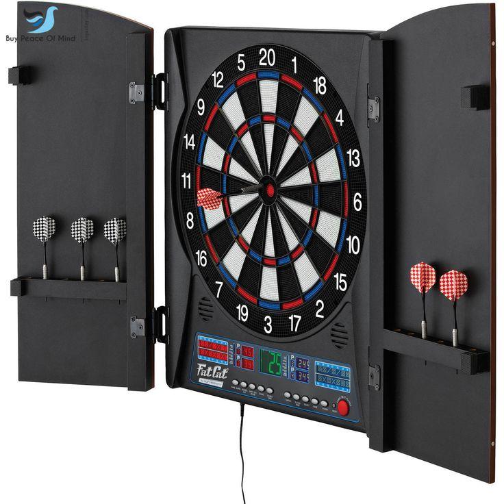 Electronic Dart board Fat Cat Electronx Top Quality Multi Soft Cabinet free ship | eBay