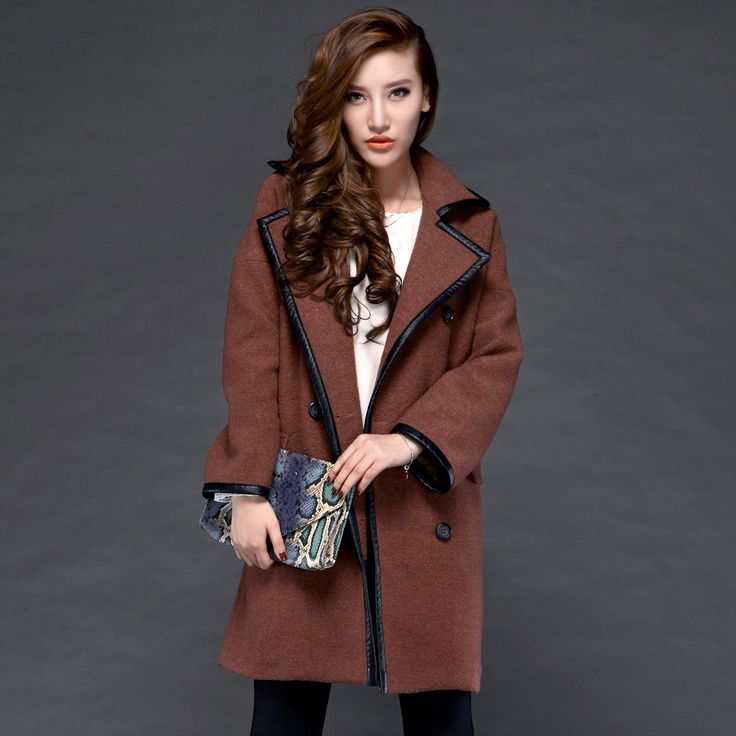 Le nouveau double boutonnage manteau col tailleur