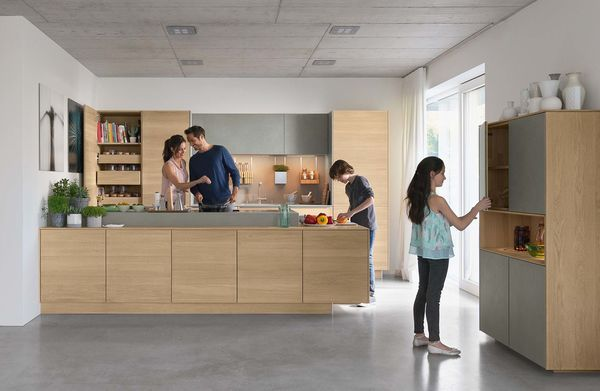 Natural wood kitchen filigno of TEAM 7