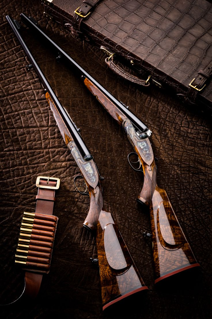 Custom pair of Westley Richards side lock double rifles chambered in .470 Nitro Expres