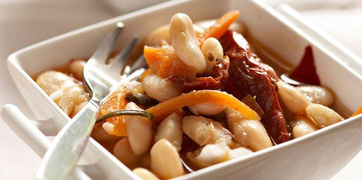 Haricots blancs aux tomates séchées   Recette   Haricot ...