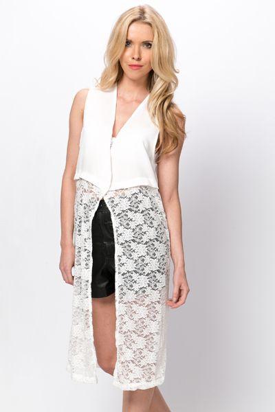 Lace Longline Waistcoat