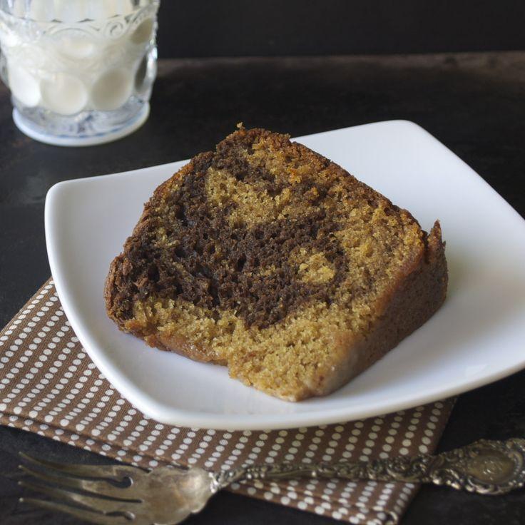 This Honey Cake boasts swirls of chocolate and sweet and spicy cake.