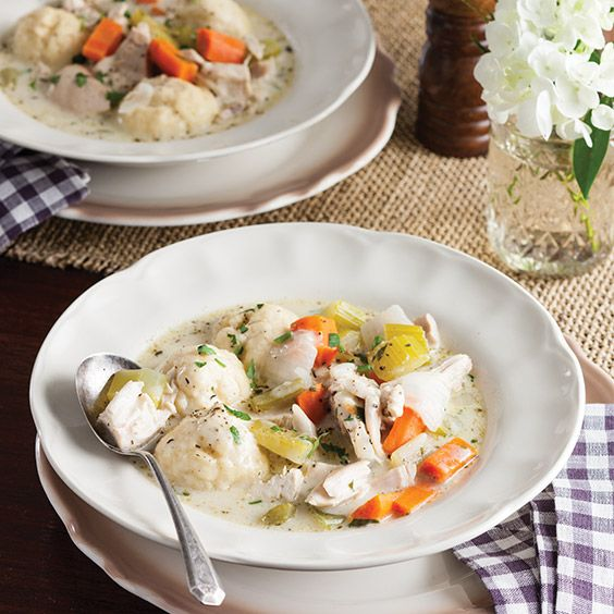 This lip-smacking Chicken and Biscuit Dumplings recipe will take you back to eating at grandma's house. ThisdeliciousSouthern classic willplease everyone at the supper table!    Save Recipe Print  Chicken and Biscuit Dumplings