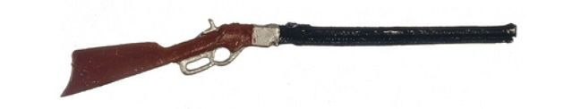 """Dollhouse Miniature Winchester 73 Rifle 3½""""Long Hand Painted Made USA 1:12 Scale #ArtisanMiniatures"""