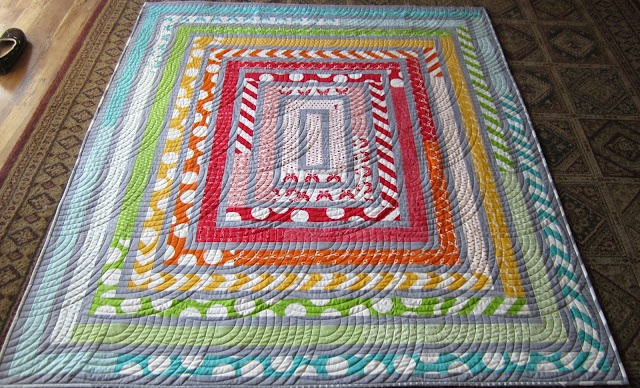 Log Cabin Quilt using Half Moon Modern Jelly Roll Quilting Pinterest Patterns, Cabin and Logs