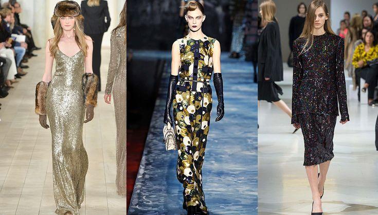 Tendance sequins all over, défilés Ralph Lauren Collection, Marc Jacobs et Nina Ricci