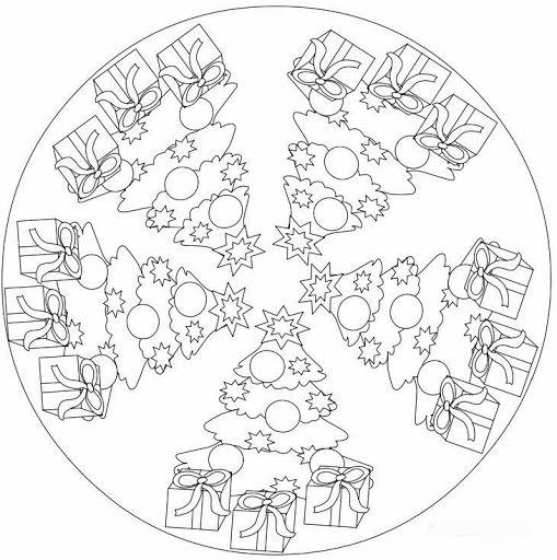 MANDALES NADAL 3 - Petitmón Recursos - Picasa-Webalben    // zum benützen auch als Quilt unterlage für Christbaum