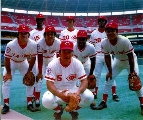 The Big Red Machine, Cincinnati Reds, 1976    Johnny Bench, Pete Rose, Joe Morgan, Tony Perez, Dave Concepcion, George Foster, Ken Griffey Sr., Cesar Geronimo