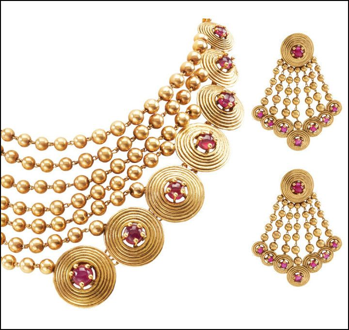 Azva Bridal Jewelry Collection| Indian Bridal Necklace Sets | http://www.indweds.com/wedding-jewellery/indian-bridal-jewelry-collection/