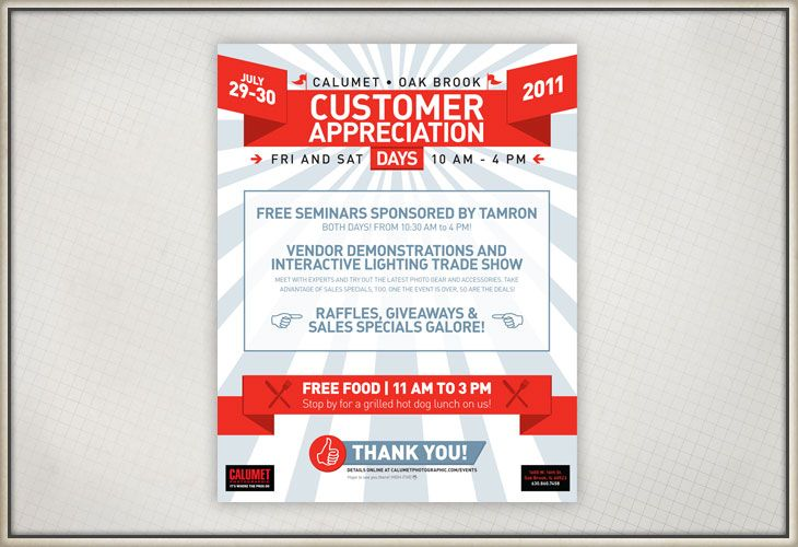 custmer appreciation invitations