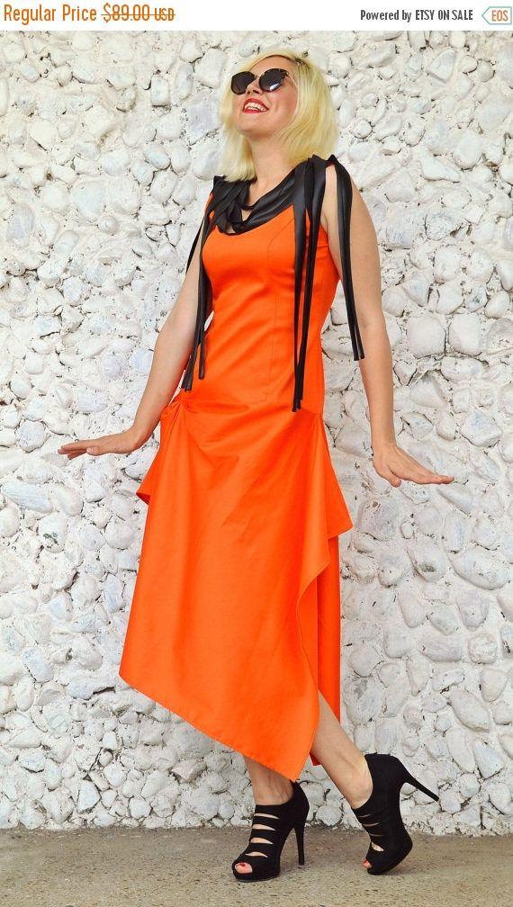 Now selling: SALE 30% OFF Orange Funky Dress / Summer Dress / Extravagant Dress / Asymmetrical Orange Dress / Cotton Dress with Metallic Neoprene Fringes https://www.etsy.com/listing/398518493/sale-30-off-orange-funky-dress-summer?utm_campaign=crowdfire&utm_content=crowdfire&utm_medium=social&utm_source=pinterest