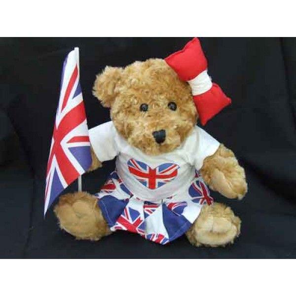 "British Celebration Bear - Girl. Outfits & Costumes will fit 14"" - 18"" stuffed teddy bears & rag dolls plus all standard Build A Bear stuffed animals."