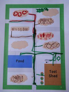 Making Maps of Mr McGregor's Garden. Peter Rabbit by Beatrix Potter