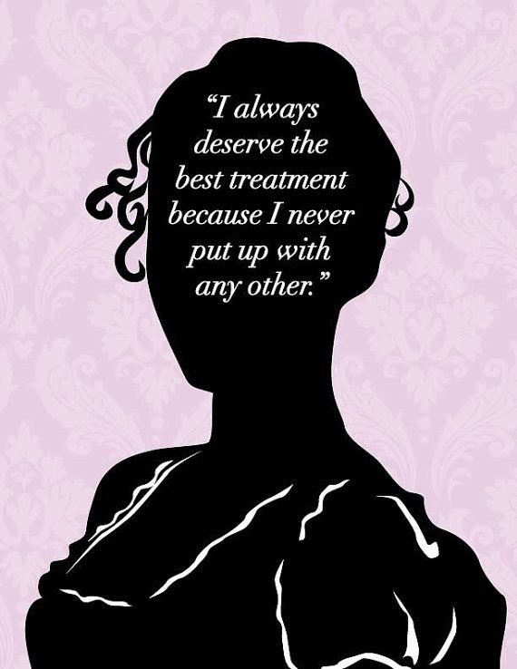 Jane Austen Emma Print Deserve The Best 8x10 by 10cameliaway, $25.00 http://www.10cameliaway.etsy.com