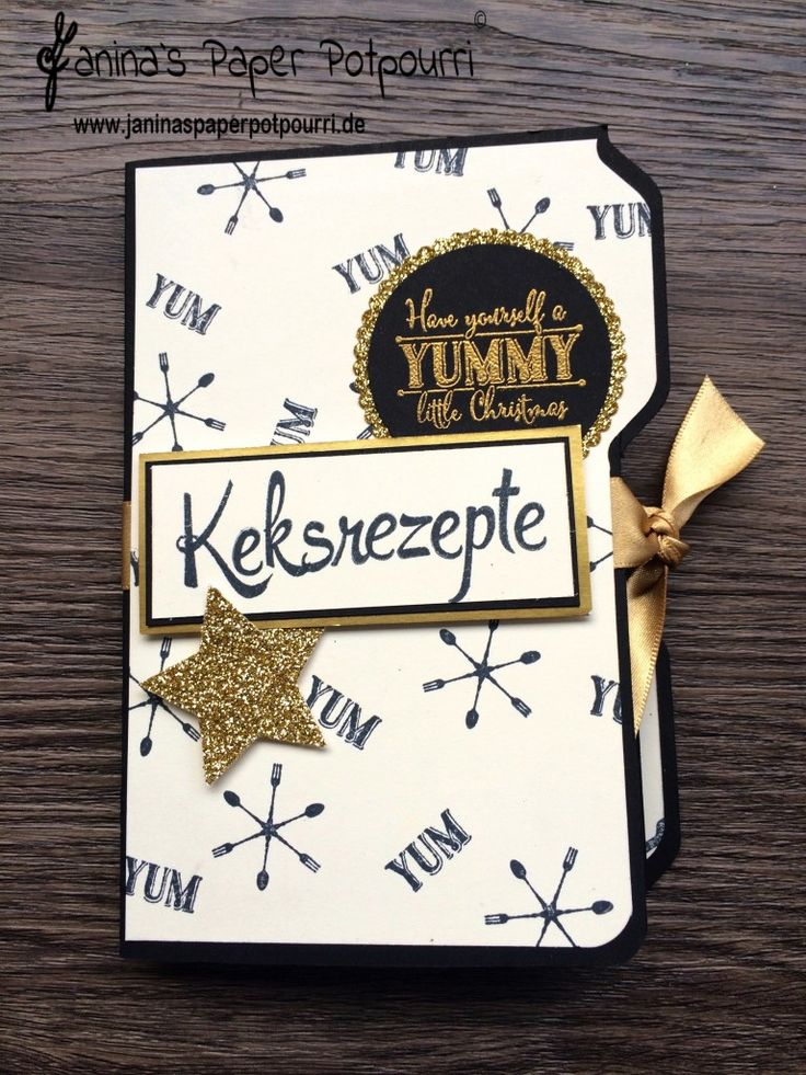 jpp - Mini Album Keksrezepte - recipe mini album / Weihnachten / Christmas 7 cookies / Kekse / Plätzchen Rezepte / interaktiv / Stampin' Up! / Envelope Punch Board / Yummy litte Christmas / Hausgemachte Leckerbissen / Kein Geburtstag ohne Kuchen / Brushwork Alphabet / Von mir gestempelt / Lagenweise Kreise & Ovale / Thinlits Leckereien Box www.janinaspaperpotpourri.de