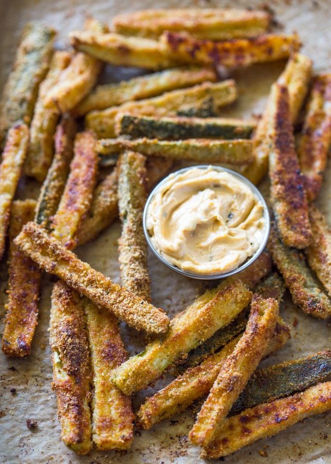 Crispy Baked Zucchini Fries.