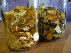 dehydrated foods zucchini and squash chips... this is what I'm doing with all of that garden produce.