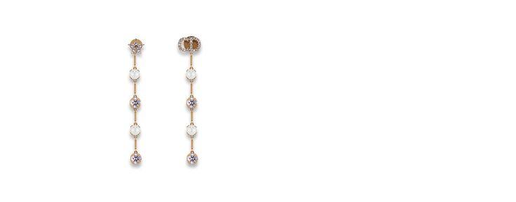 """d bohémienne"" earrings in aged gold-tone metal - Dior"