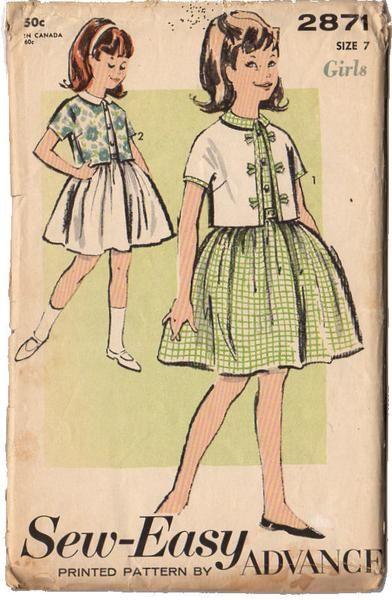699 best 1. VINTAGE 1960-1964 GIRLS PATTERNS images on Pinterest ...