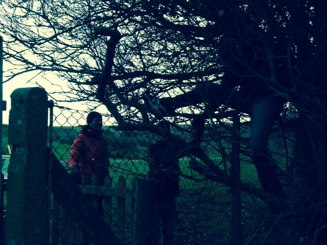 Getting dark and faced with a fence!