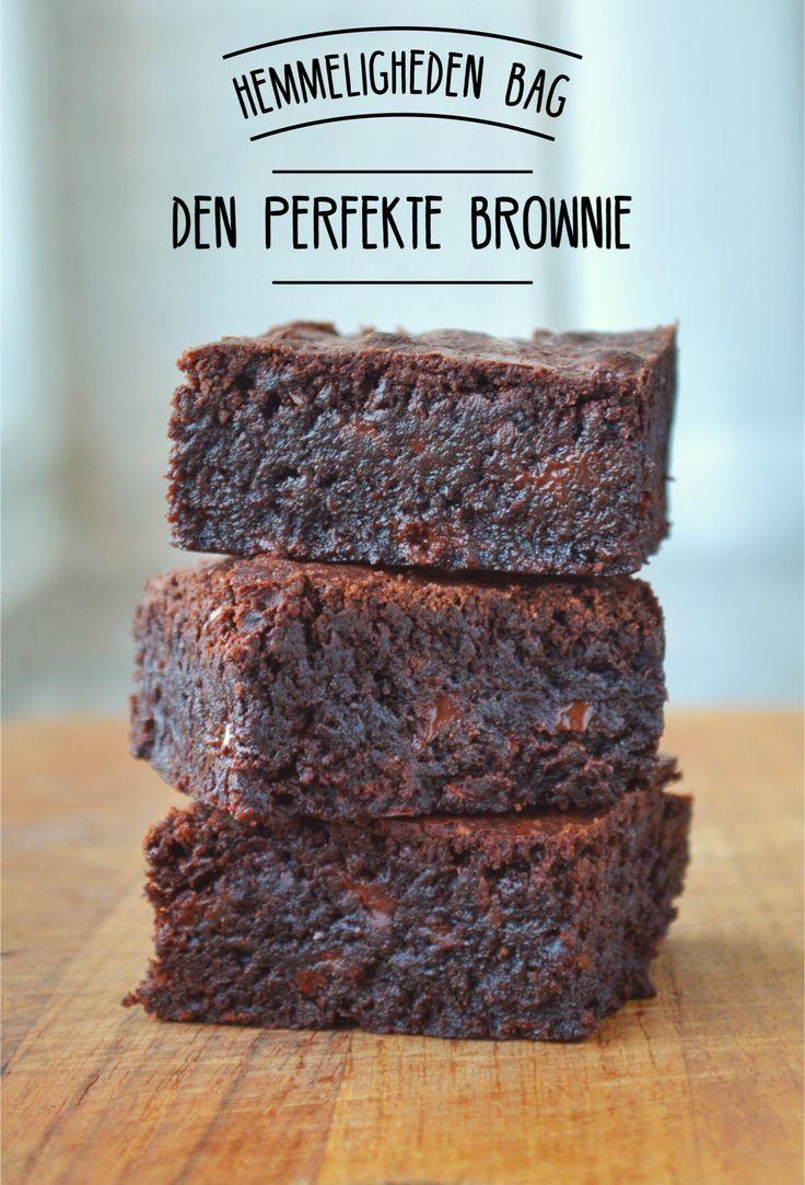 Få opskriften samt hemmeligheden bag den perfekte brownie.