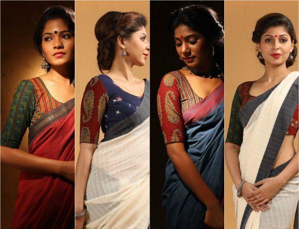 Elegant cotton sarees & blouses