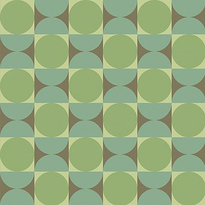 Bradbury Vintage Wallpapers | 1960s | The Mod Generation | Reverb in Tambourine Green