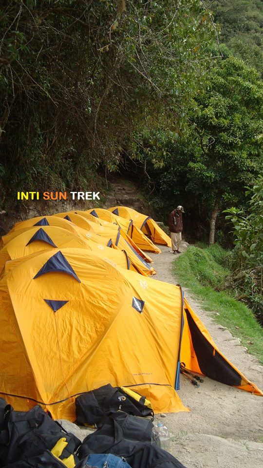 One of our camps in Inca Trail.