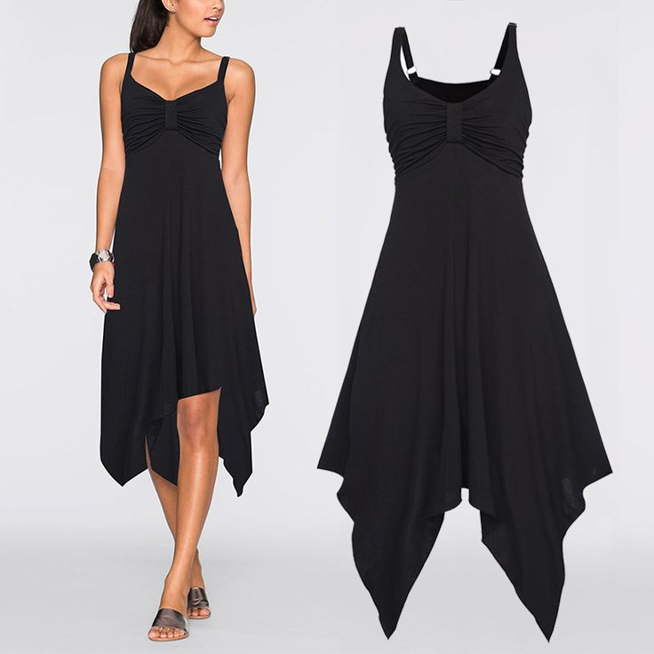 Fashion Women Long Slip Strap Dress Low Cut Splice Spring Summer Sexy Casual Irregular Dresses  99 -MX8