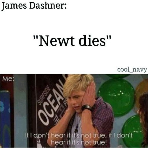 Why does this always happen to me? I fall in love with one of the characters in the book! And this happen in Hunger Games.   R.I.P Finnick and Newt