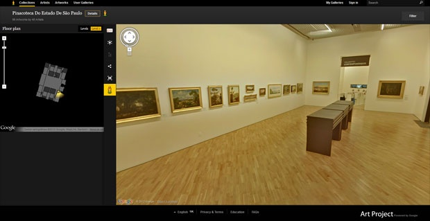 Google Street View em museus brasileiros!
