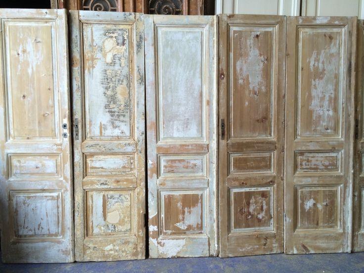 nr. 479a serie geloogde sets antieke deuren (ook voor kastenwand) | Dubbele deuren, setjes kastdeuren | Oudedeur - paneeldeuren :