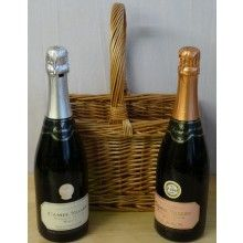 Camel Valley Sparkling Wines presented in a Handmade Wicker Basket - Ideal Father's Day Gift!
