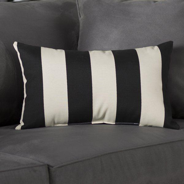 Varick Gallery Minden Striped  Lumbar Pillow & Reviews | Wayfair
