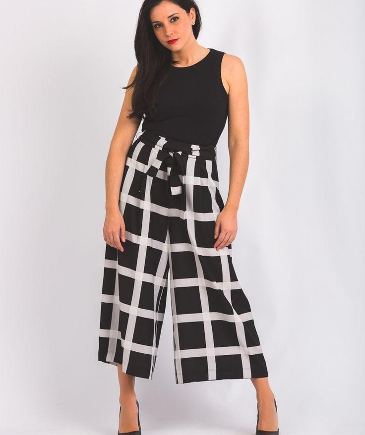 Culotte de cuadros black&white