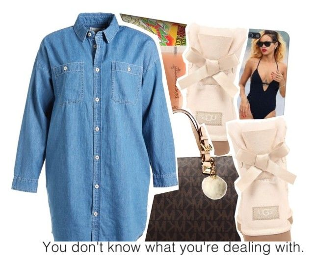 """You Don't Know.."" by desirenelle ❤ liked on Polyvore featuring MANGO, Forever 21, UGG Australia, MICHAEL Michael Kors, Chocoolate and IMoshion"